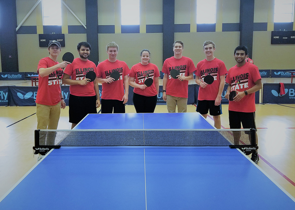 Redbird Table Tennis team after its first friendly tournament at the University of Illinois