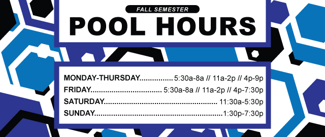 Fall Semester Pool Hours