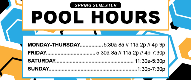 Spring Semester Pool Hours