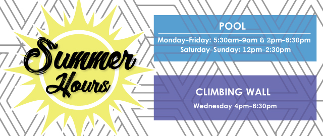 Summer Hours Pool and Climbing Wall