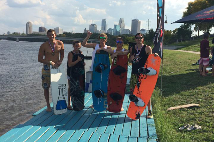 wakeboard club at competition