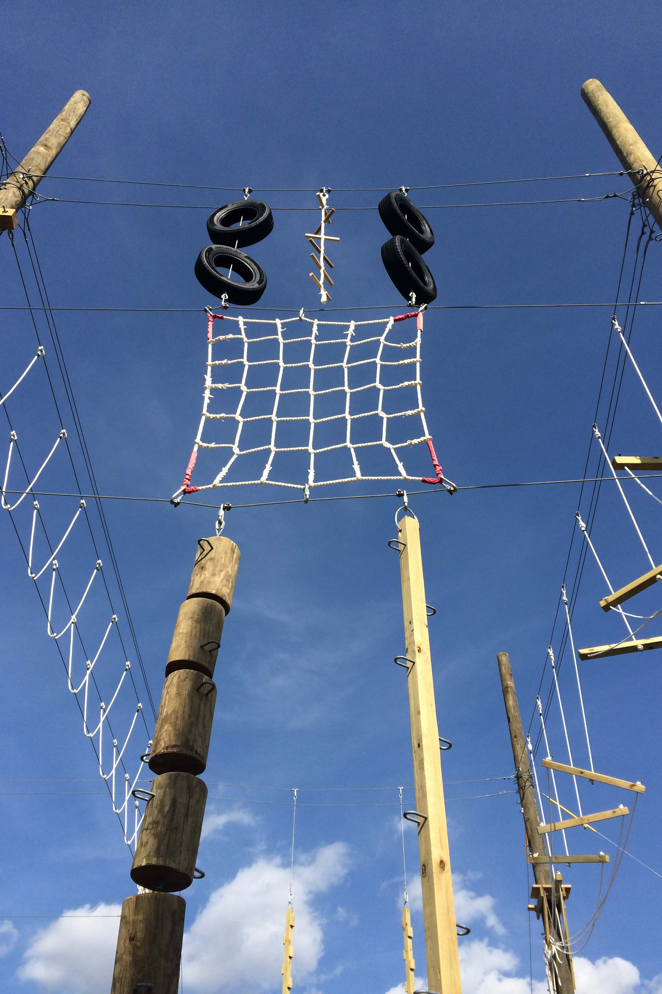 vertical playpen on high ropes course